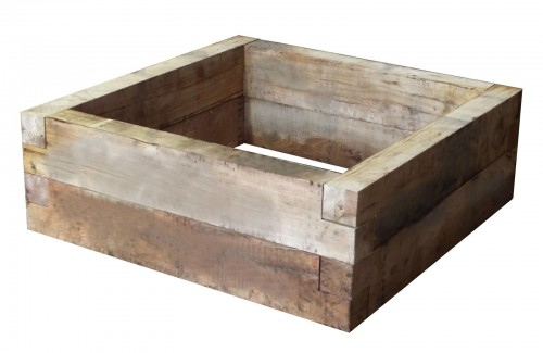 Heavy Duty Oak Raised Bed 1.2 x 1.2 x 100mm x 400mm high