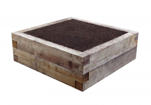 eavy Duty Garden Oak Raised Bed 400mm high with 0.5 tonne of soil