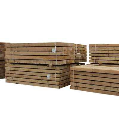 Green oak railway sleepers